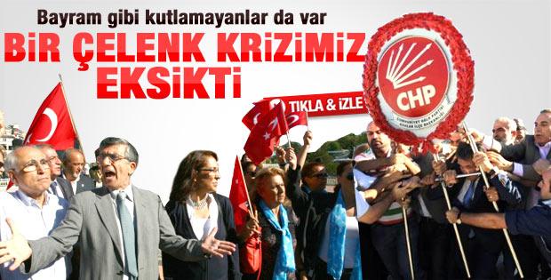 Taksim'de 30 Ağustos töreninde protesto vardı