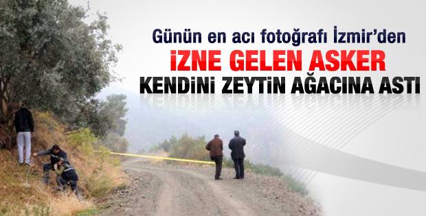 İzne gelen asker İzmir'de kendini zeytin ağacına astı