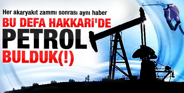 Hakkari'de petrol bulundu ancak çıkarılamıyor