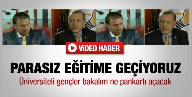 Erdoğan: Öğrenci harçları kalkacak