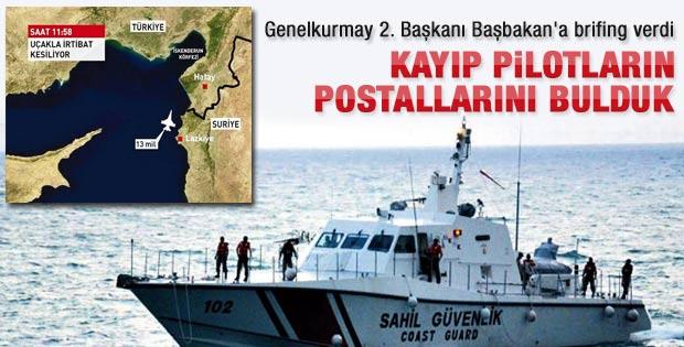 Türk jeti pilotlarının postalları bulundu
