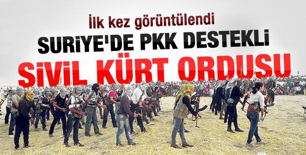 İşte Suriye'deki PKK destekli Kürt ordusu
