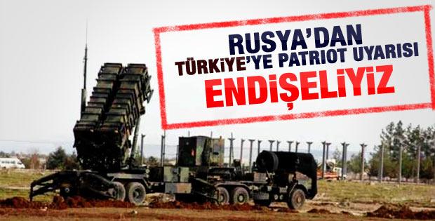 Rusya'dan Türkiye'ye Patriot uyarısı