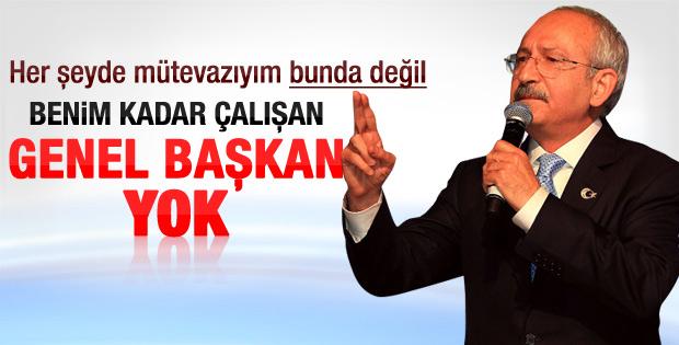 Kılıçdaroğlu: Benim kadar çalışan genel başkan yok