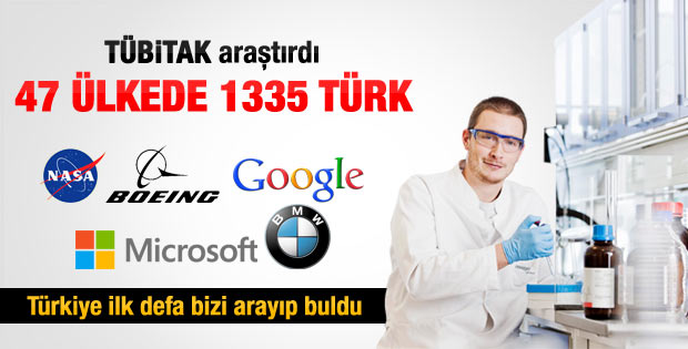 47 ülkede 1335 Türk bilim insanı