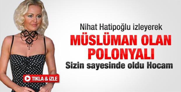 Oyuncu Tatsyana'dan Nihat Hatipoğlu'na teşekkür