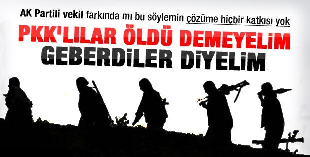 Öldürülen PKK'lılara gebertildi diyelim