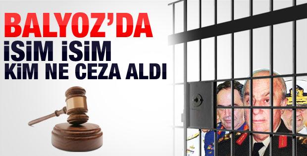 Balyoz Davası'nda isim isim kim ne ceza aldı