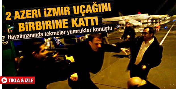Tekme tokatlı kavga İzmir havalimanında son buldu