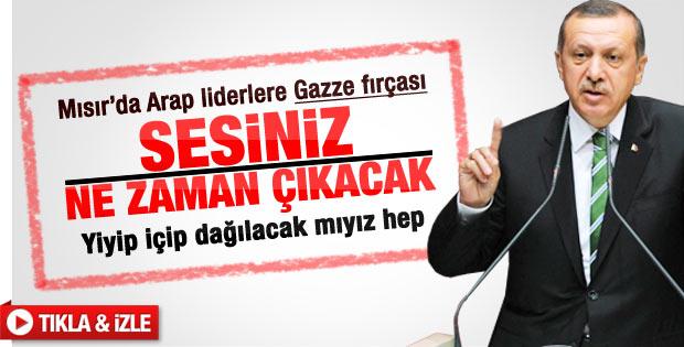 Erdoğan'dan Arap Ligi'ne Gazze tepkisi