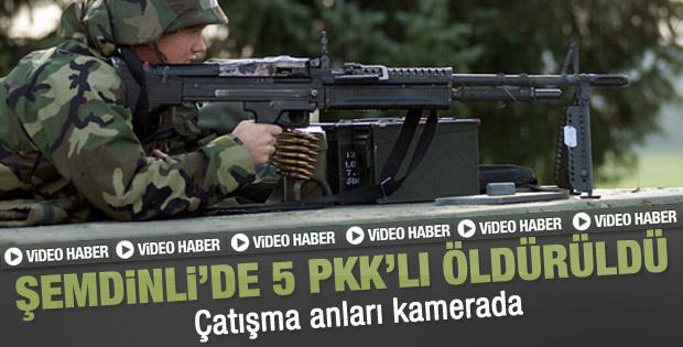 Şemdinli'de çatışma: 5 PKK'lı öldürüldü