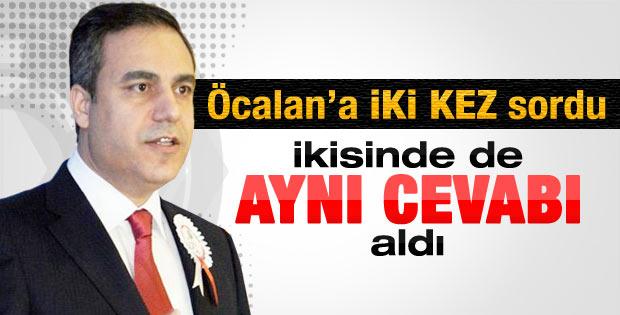 Hakan Fidan'ın Öcalan'a iki kez sorduğu soru