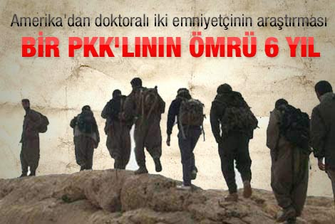 Bir PKK'lının ortalama ömrü 6 yıl 8 ay