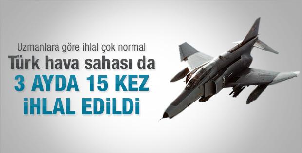 3 ay içinde 15 kez Türk hava sahası ihlal edildi