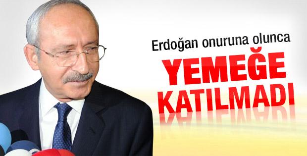 Yemek Erdoğan onuruna olunca Kılıçdaroğlu katılmadı