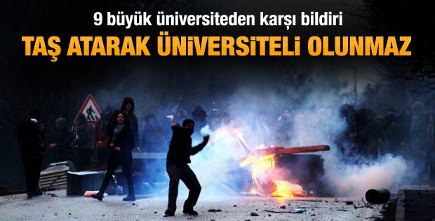 9 üniversiteden ODTÜ'ye tepki mesajı