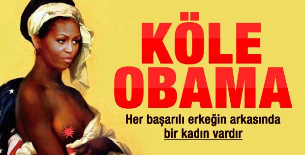 Üstsüz köle Michelle Obama