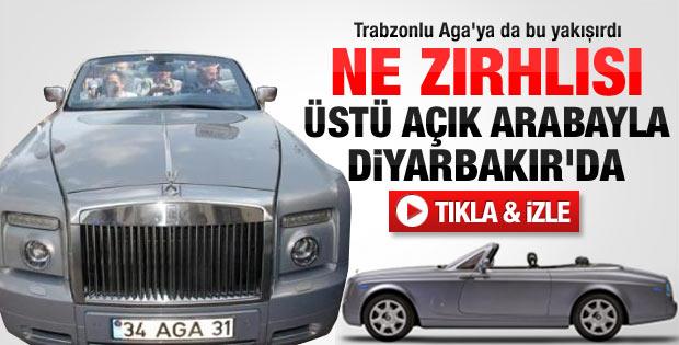 Ağaoğlu üstü açık arabasıyla Diyarbakır'da