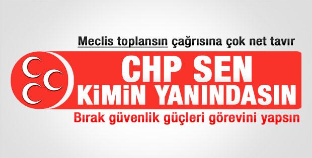 MHP'li Oktay Vural'dan CHP'ye tepki