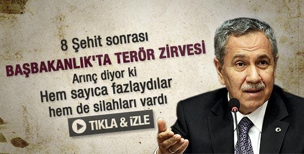 Başbakanlık'ta terör zirvesi - izle