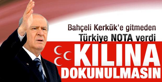 Türkiye'den Irak'a Bahçeli için Kerkük uyarısı