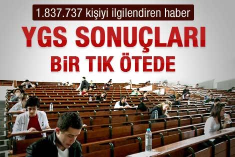 2012 YGS sınav sonuçları açıklandı