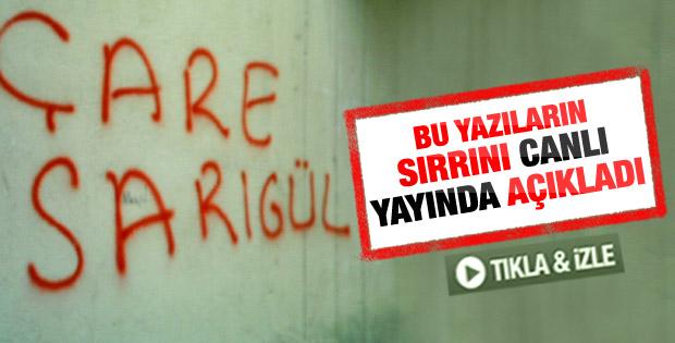 Mustafa Sarıgül Çare Sarıgül yazılarının sırrını açıkladı