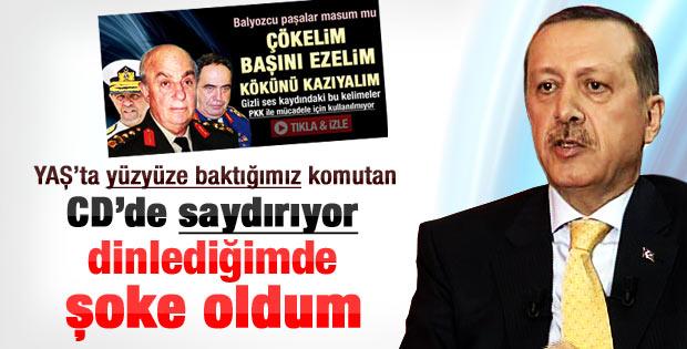 Erdoğan: O CD'leri izlerken şok oluyorum