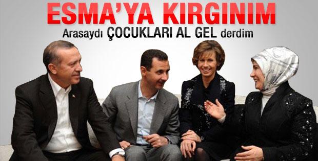 Emine Erdoğan Esma Esad'a kırgın