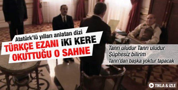 Yol Ayrımı dizisinde Türkçe ezan sahnesi