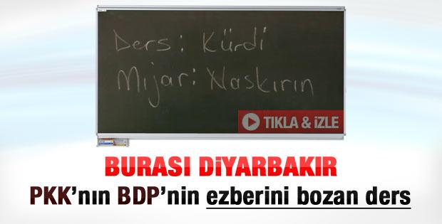 Canlı yayında Diyarbakır'da Kürtçe ders