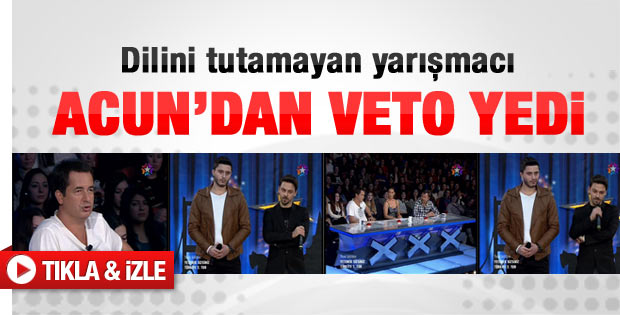 Acun Ilıcalı'dan yarışmacıya veto - Video