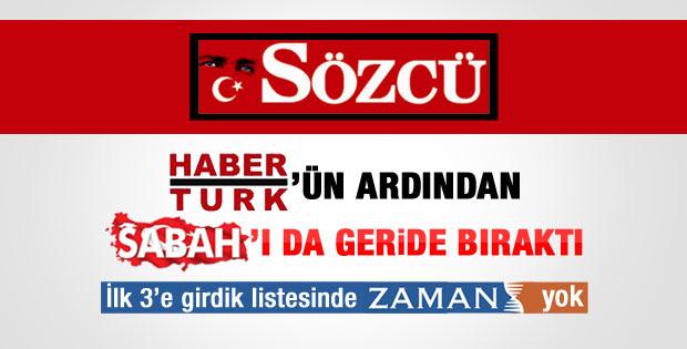 Sözcü tirajda Sabah gazetesini de geçti