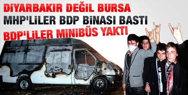 Bursa'da MHP-BDP gerginliği