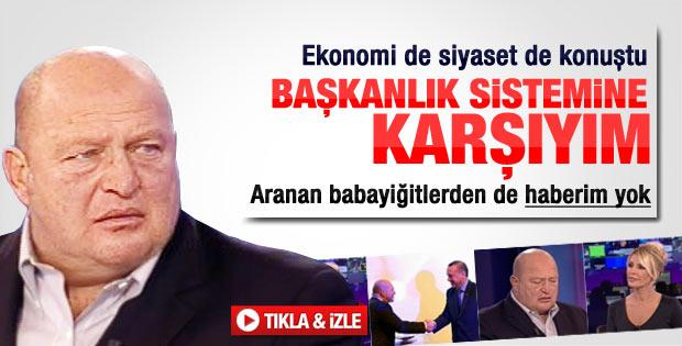 Mustafa Koç Başkanlık Sistemi'ne karşı