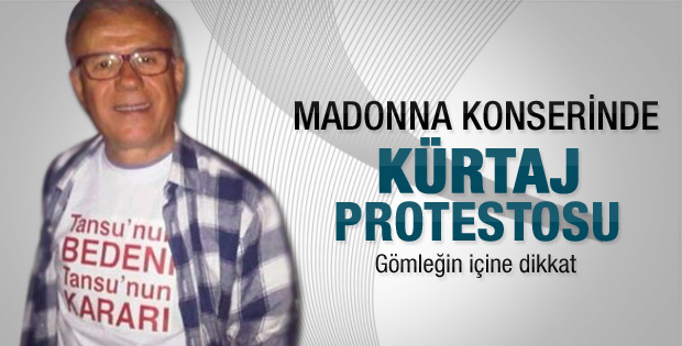 Madonna konserinde kürtaj protestosu