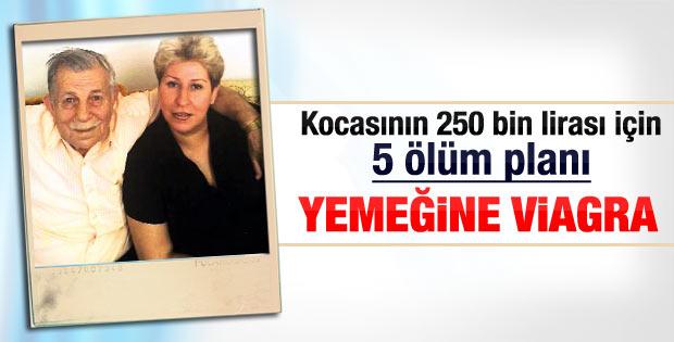İzmir'de yaşlı kocasını öldürmek için her şeyi yaptı
