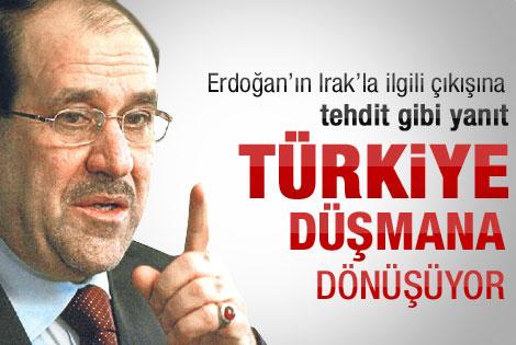 Irak'tan sert Türkiye açıklaması