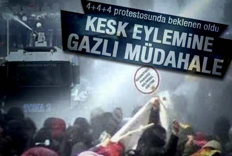 Ankara'da KESK eylemine sert müdahale