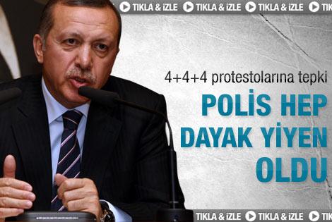 Erdoğan: Polis hep dayak yiyen konuma düştü