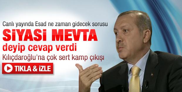 Başbakan Erdoğan Kanaltürk canlı yayınındaydı