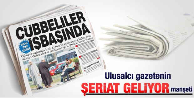 İzmir Kordon'da gezen cübbelilerden örtünün uyarısı