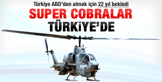 ABD 22 yıl sonra süper Cobra helikopterleri gönderdi