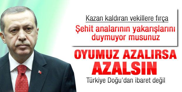 Erdoğan'dan dokunulmazlık çıkışı: Oyumuz azalırsa azalsın