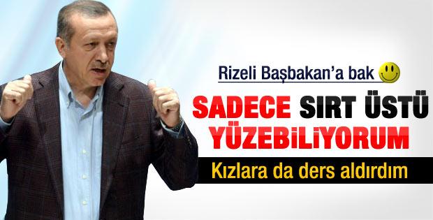 Erdoğan: Sırt üstü iyi yüzerim