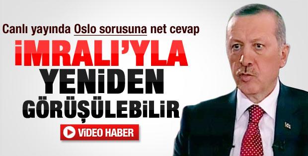 Erdoğan'dan Oslo sorusuna net yanıt