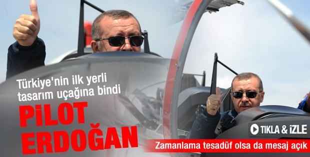 Erdoğan Hürkuş'un kokpitinde