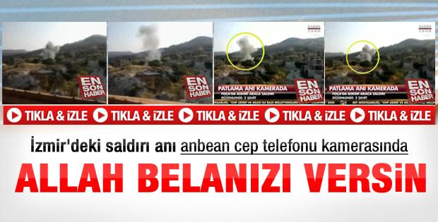 İzmir'deki saldırı anbean kamerada - Video