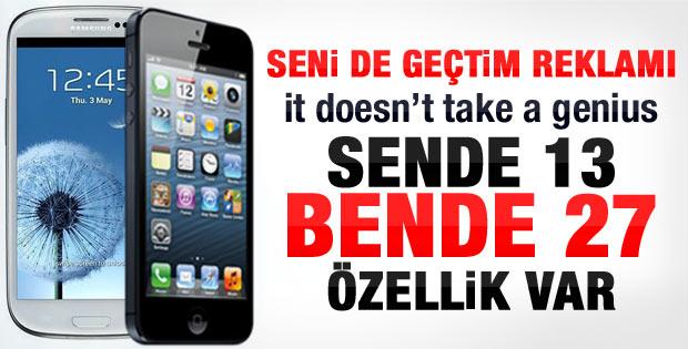 Samsung İPhone 5'i alaya aldı