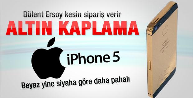 Zenginlere özel 24 ayar altın kaplama iPhone 5